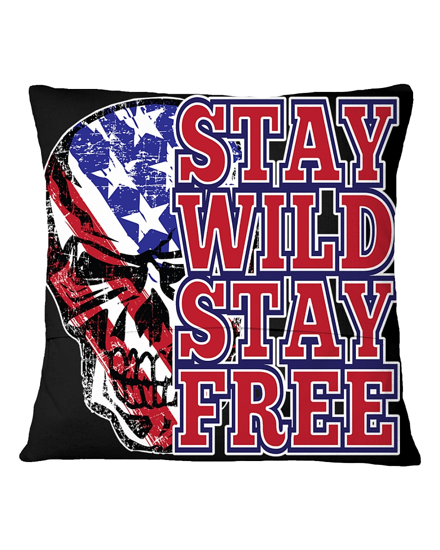 Stay Wild Stay FFree Square Pillowcase