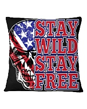 Stay Wild Stay FFree Square Pillowcase back