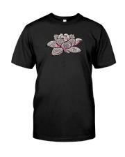 Namaste Mandala Lotus Yoga Classic T-Shirt front