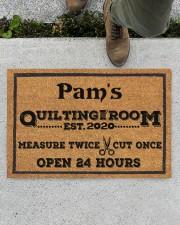 "For Quilters Doormat 22.5"" x 15""  aos-doormat-22-5x15-lifestyle-front-01"