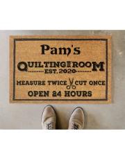 "For Quilters Doormat 22.5"" x 15""  aos-doormat-22-5x15-lifestyle-front-04"