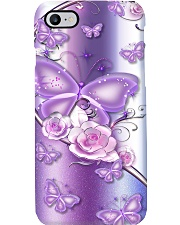 Purple Butterfly Rose Phone Case Phone Case i-phone-8-case