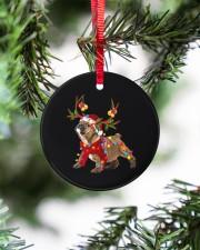 Bulldog Christmas Circle ornament - single (porcelain) aos-circle-ornament-single-porcelain-lifestyles-07