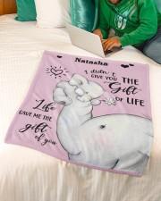 "Gift Of You Small Fleece Blanket - 30"" x 40"" aos-coral-fleece-blanket-30x40-lifestyle-front-07a"