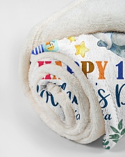"""Happy 1st Mother's Day Small Fleece Blanket - 30"""" x 40"""" aos-coral-fleece-blanket-30x40-lifestyle-front-18"""