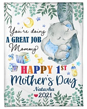 """Happy 1st Mother's Day Small Fleece Blanket - 30"""" x 40"""" front"""