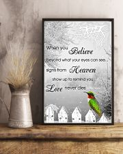 Hummingbird When You Believe Poster 11x17 Poster lifestyle-poster-3