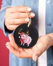 Pig Christmas Circle ornament - single (porcelain) aos-circle-ornament-single-porcelain-lifestyles-01