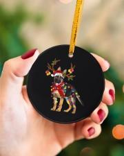 German Shepherd Christmas Circle ornament - single (porcelain) aos-circle-ornament-single-porcelain-lifestyles-09