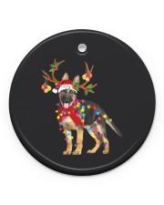 German Shepherd Christmas Circle ornament - single (porcelain) front