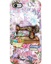 Sewing Machine Flowers Phone Case Phone Case i-phone-8-case