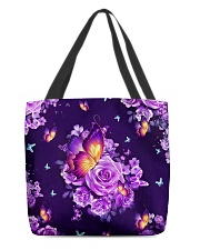 Butterfly Purple All-over Tote back