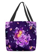 Butterfly Purple All-over Tote front
