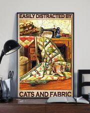 Easily Distracted By Cats And Fabric 11x17 Poster lifestyle-poster-2