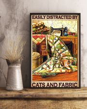 Easily Distracted By Cats And Fabric 11x17 Poster lifestyle-poster-3