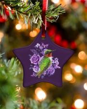Hummingbird Purple Flower  Star ornament - single (porcelain) aos-star-ornament-single-porcelain-lifestyles-07
