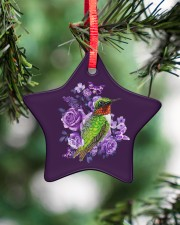 Hummingbird Purple Flower  Star ornament - single (porcelain) aos-star-ornament-single-porcelain-lifestyles-08