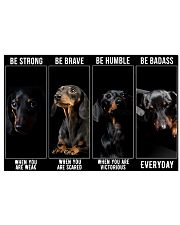 Dachshund Be Strong Poster 24x16 Poster front