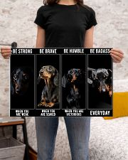 Dachshund Be Strong Poster 24x16 Poster poster-landscape-24x16-lifestyle-20