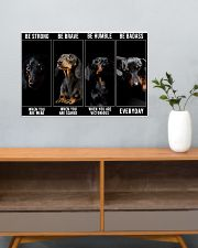 Dachshund Be Strong Poster 24x16 Poster poster-landscape-24x16-lifestyle-25
