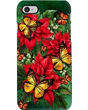 Butterfly Poinsettia Phone Case Phone Case i-phone-8-case