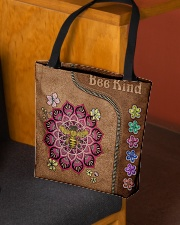 Bee Kind Leather Bag All-over Tote aos-all-over-tote-lifestyle-front-02