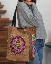 Bee Kind Leather Bag All-over Tote aos-all-over-tote-lifestyle-front-09
