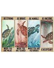 Turtle Be Strong Poster 17x11 Poster front