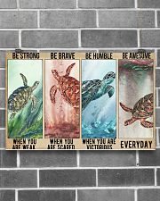 Turtle Be Strong Poster 17x11 Poster poster-landscape-17x11-lifestyle-18