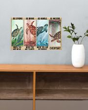 Turtle Be Strong Poster 17x11 Poster poster-landscape-17x11-lifestyle-24