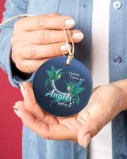 Hummingbird Angels Circle ornament - single (porcelain) aos-circle-ornament-single-porcelain-lifestyles-01