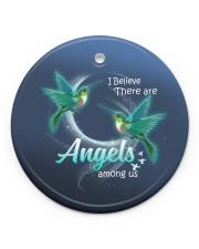 Hummingbird Angels Circle ornament - single (porcelain) front