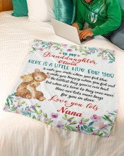 """Hugs To My Granddaughter Small Fleece Blanket - 30"""" x 40"""" aos-coral-fleece-blanket-30x40-lifestyle-front-07a"""