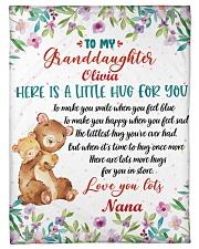 "Hugs To My Granddaughter Small Fleece Blanket - 30"" x 40"" front"
