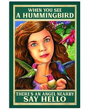 Hummingbird An Angel Nearby Say Hello 11x17 Poster front