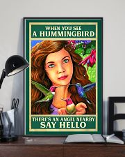 Hummingbird An Angel Nearby Say Hello 11x17 Poster lifestyle-poster-2