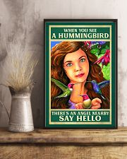 Hummingbird An Angel Nearby Say Hello 11x17 Poster lifestyle-poster-3