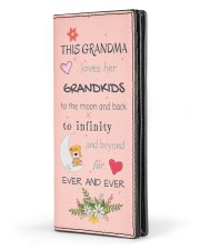 This Grandma Loves Her Grandkids Women's Leather Wallet Vertical front