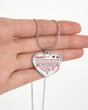 I've Only Been In Your Life Mommy Metallic Heart Necklace aos-necklace-heart-metallic-lifestyle-07