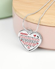 I've Only Been In Your Life Mommy Metallic Heart Necklace aos-necklace-heart-metallic-lifestyle-09