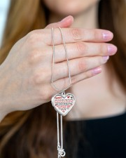 I've Only Been In Your Life Mommy Metallic Heart Necklace aos-necklace-heart-metallic-lifestyle-10