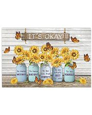 Butterfly Sunflower It's Okay Poster 17x11 Poster front