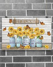 Butterfly Sunflower It's Okay Poster 17x11 Poster poster-landscape-17x11-lifestyle-18