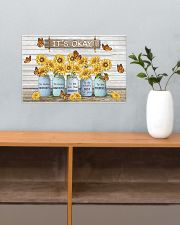 Butterfly Sunflower It's Okay Poster 17x11 Poster poster-landscape-17x11-lifestyle-24