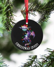 Dragon Christmas  Circle ornament - single (porcelain) aos-circle-ornament-single-porcelain-lifestyles-07