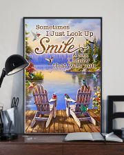 Hummingbird Sometimes I Just Look Up And Smile 11x17 Poster lifestyle-poster-2