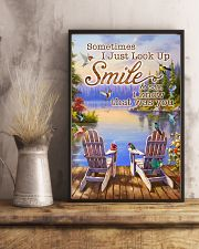 Hummingbird Sometimes I Just Look Up And Smile 11x17 Poster lifestyle-poster-3