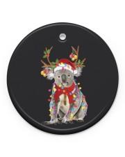 Koala Christmas Circle ornament - single (porcelain) front