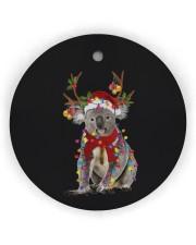 Koala Christmas Circle Ornament (Wood tile
