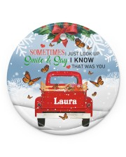 Butterfly Smile  Circle ornament - single (porcelain) front